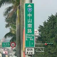 台北の住所表示