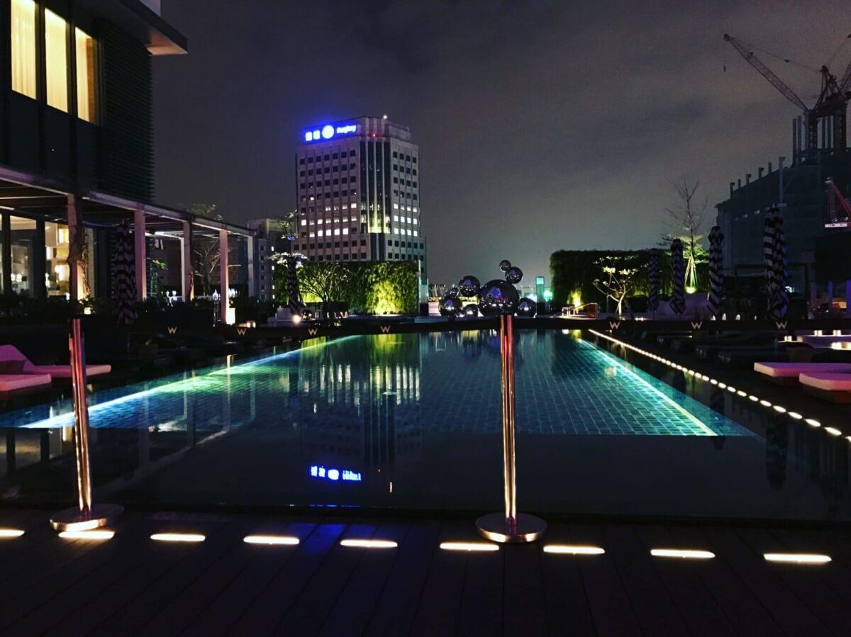 【台北 信義】ちょっとバブリーな台北の高級ホテル W 台北 | プールも夜景バーもあります!レストランも充実