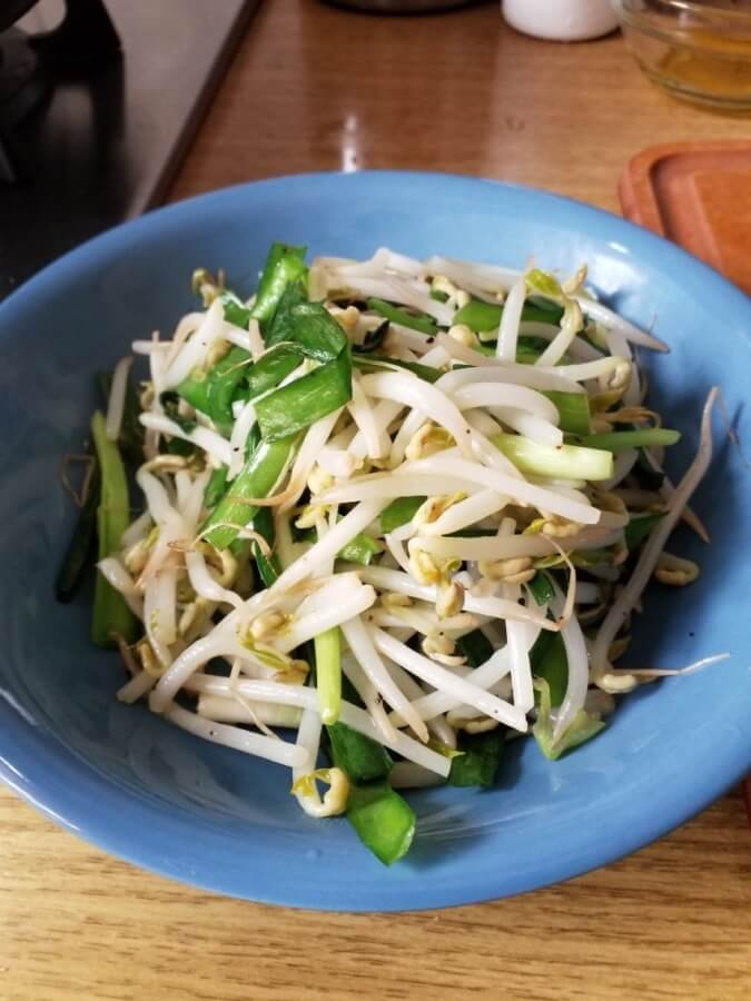 韭菜綠豆芽