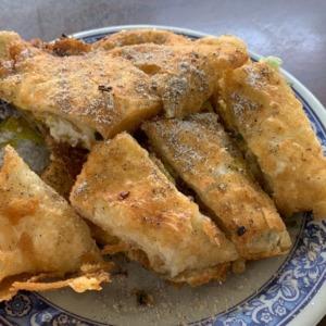 重慶豆漿店の揚げ蛋餅(ダンピン)